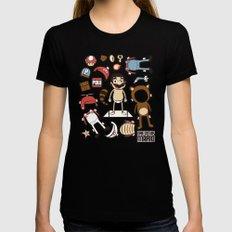 Dress up Mario Black MEDIUM Womens Fitted Tee