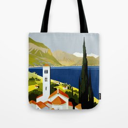 Vintage travel poster - Italian Lakes Tote Bag