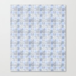 Classical blue with a gray cell. Canvas Print