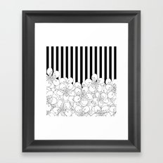 Cherry Blossom Stripes - In Memory of Mackenzie Framed Art Print