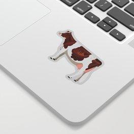 Red & White Holstein Sticker Sticker