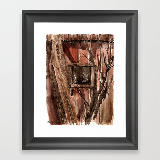 Barn window Framed Art Print