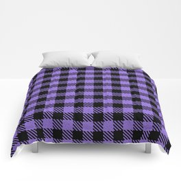 Medium Purple  Bison Plaid Comforters