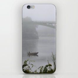 Foggy Fishing Day on the Delaware River iPhone Skin