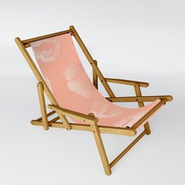 Sweet Life Lips Peach Coral Pink Shimmer Sling Chair