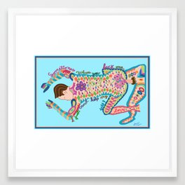 POWER BOTTOM Framed Art Print