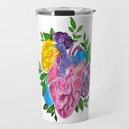 Heart,flowers and colors Travel Mug