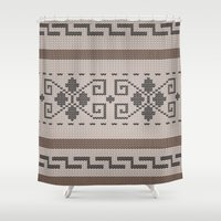 lebowski Shower Curtains featuring The Big Lebowski Cardigan  by Marvelis