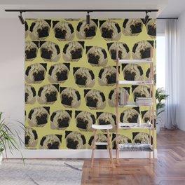 Pug Dogs Wall Mural
