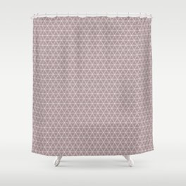 Decorative Blush Triangle Pattern Design Shower Curtain
