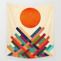 sun Wall Tapestries featuring Sun Shrine by Picomodi