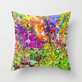 Color Buzz Throw Pillow