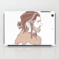 "thorin iPad Cases featuring Thorin 'Manbun"" Oakenshield by rdjpwns"