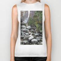 waterfall Biker Tanks featuring Waterfall by Michael Hewitt