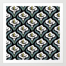 Calla Lily Pattern Art Print