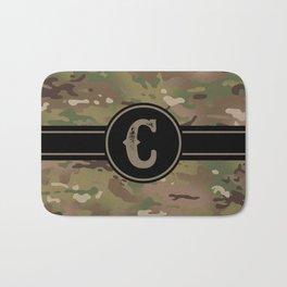 Camouflage Monogram: Letter C Bath Mat