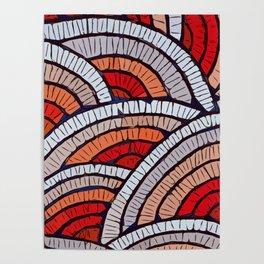 Mosaic fans Terrazzo Blobs Poster