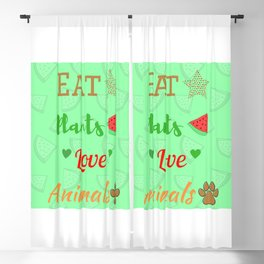 Come plantas, ama a los animales | Eat plants, love animals Blackout Curtain