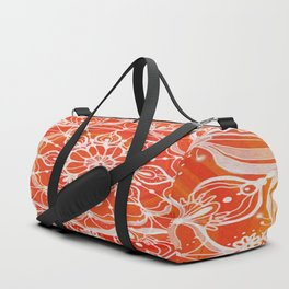 Red-orange mandala Duffle Bag