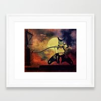 catwoman Framed Art Prints featuring catwoman by Ancello