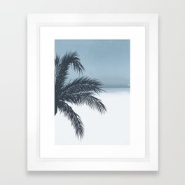 Palm and Ocean Framed Art Print