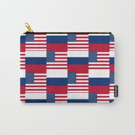 Mix of flag : Usa and russia Carry-All Pouch