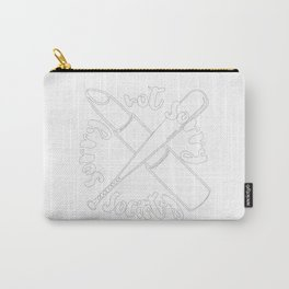 Sorry Not Sorry Society Carry-All Pouch
