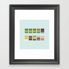 Minimalist Ninja Turtles Framed Art Print