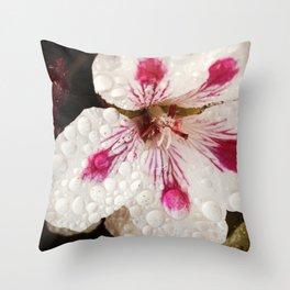 Flowers in the Summer Rain Throw Pillow