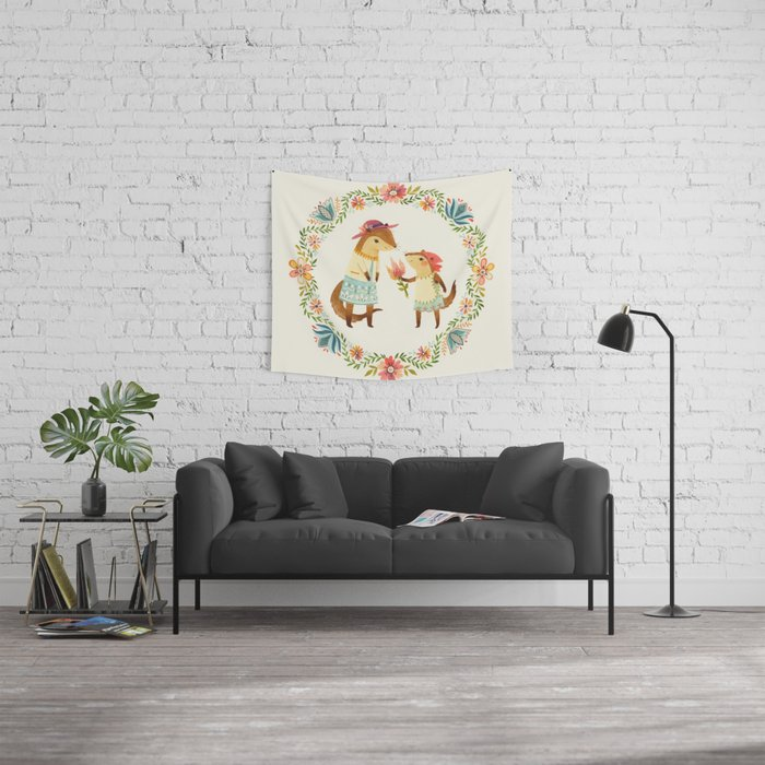 Otterly Grateful Wall Tapestry