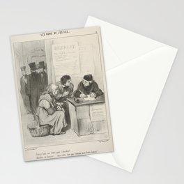 Faut-y faire une lettre pour l'attendrir  Attendrir un huissier vous n'êtes donc pas français, mon b Stationery Cards