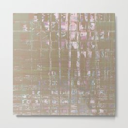 Shiny abstract design look on weird tiles looking background Metal Print