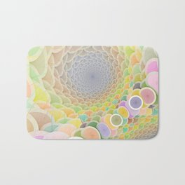 Colorful Wormhole Bath Mat