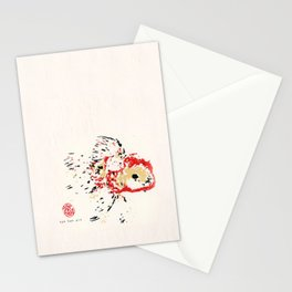 Gold Fish 4 Stationery Cards