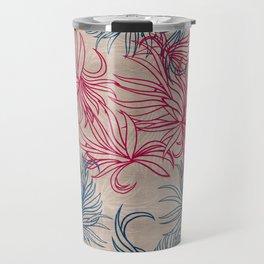 Pink and blue blades Travel Mug