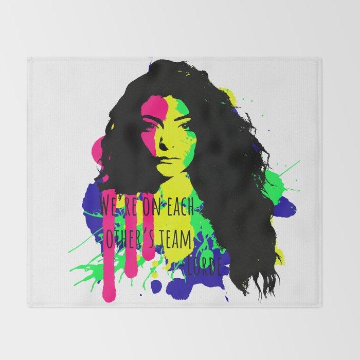 Lorde's Team Throw Blanket