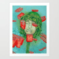 blossom Art Prints featuring Blossom by Nikoby