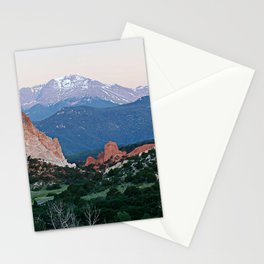 Sunrise at Garden of the Gods and Pikes Peak Stationery Cards