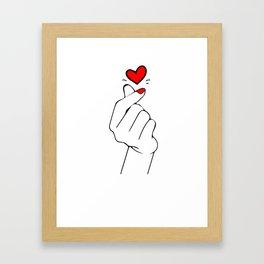 K-LOVE Hand Framed Art Print