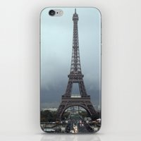 eiffel iPhone & iPod Skins featuring Eiffel by JBuck