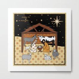 Christmas Nativity - Stable Amanya Design Metal Print