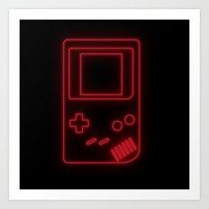 Neon Classic Game Boy Art Print