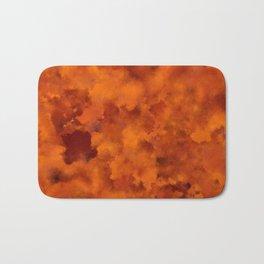 Orange red batic look Bath Mat