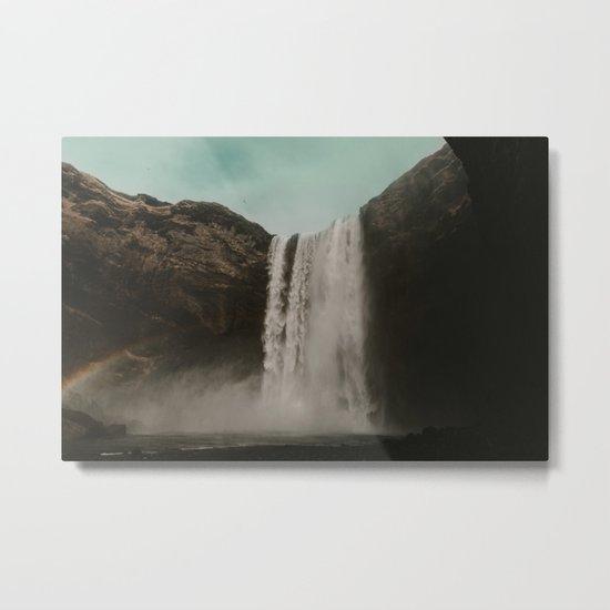 Iceland Waterfall x Skógafoss Metal Print