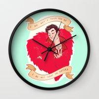 kendrawcandraw Wall Clocks featuring I am a Diva by kendrawcandraw