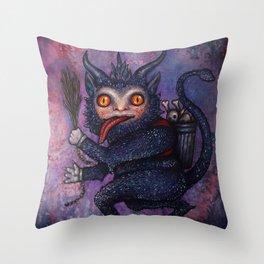 Holiday Krampus Throw Pillow