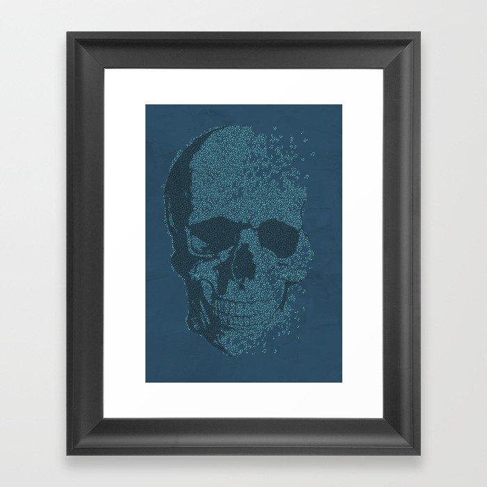 Music Skull V1 Framed Art Print