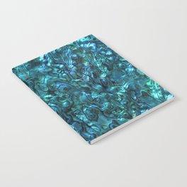 Abalone Shell | Paua Shell | Cyan Blue Tint Notebook