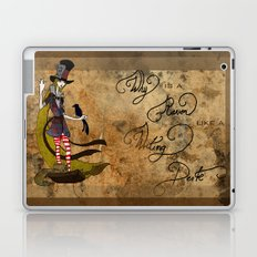 Mad Alice: Why is a Raven like a Writing Desk? Laptop & iPad Skin
