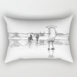 """""""Death of a Free Elf"""" - Dobby in Deathly Hallows Rectangular Pillow"""